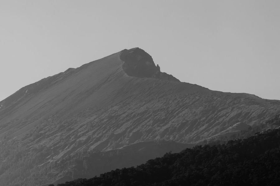 Mount Rinjani of Lombok, Indonesia in black and white Beauty In Nature Blackandwhite Day Hiking Landscape Mountain Mountain Range Nature No People Outdoors Rinjani Mountain Rinjani National Park Scenics Sky Tourism Travel Destinations Volcanic Landscape