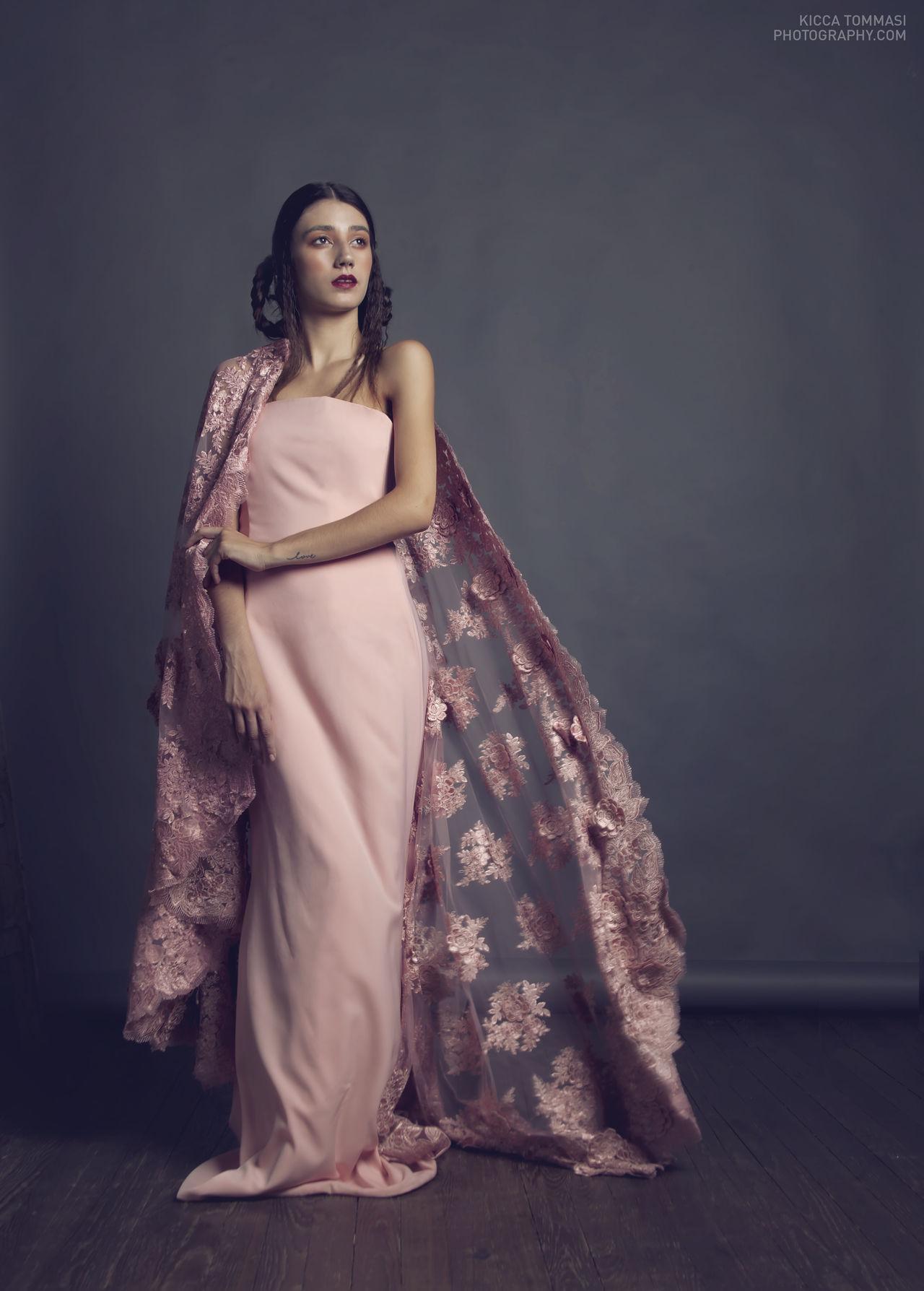 Lara, our Lady of Millennial Pink Beautiful Woman Dress Elégance Evening Gown Full Length Full Length Portrait Millennial Pink One Woman Only Studio Photography Studio Shot Woman Woman Portrait