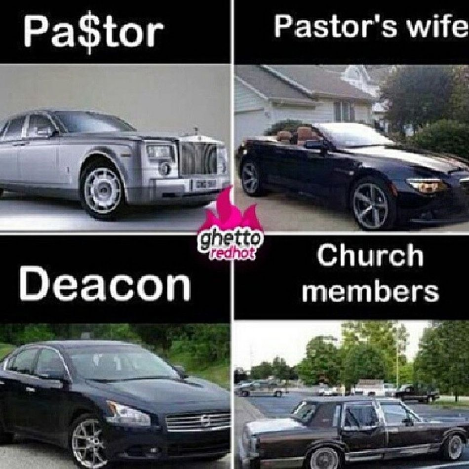 lmao...this is soo true...thats where most our money go to during offering at church! Pastor Pastorswife Deacon Churchmembers rich poor whereyourmoneygoes truestory tag4likes like4likes ctfu lmfao church instafunny hilarious