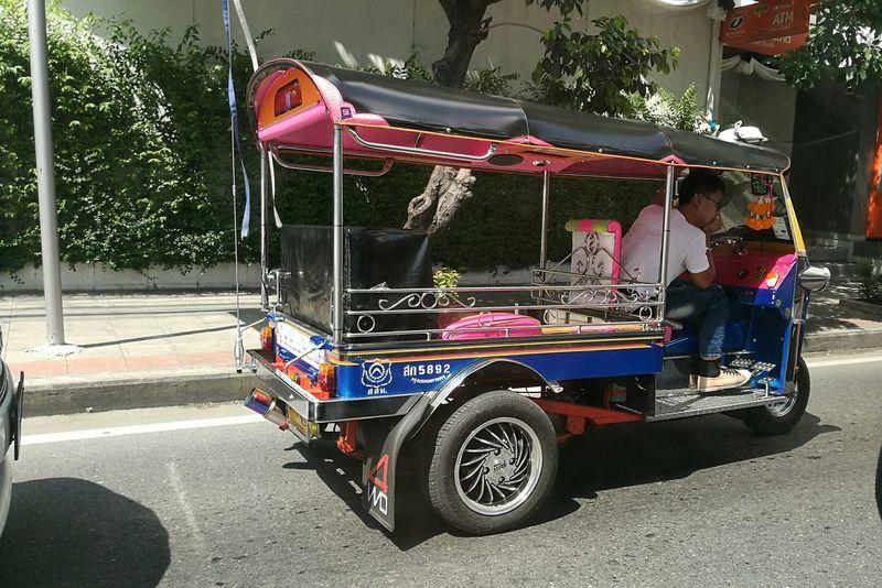 Tuktuk Taxi Tuktuk Thailand Tuktukdriver TukTuk City People Outdoors
