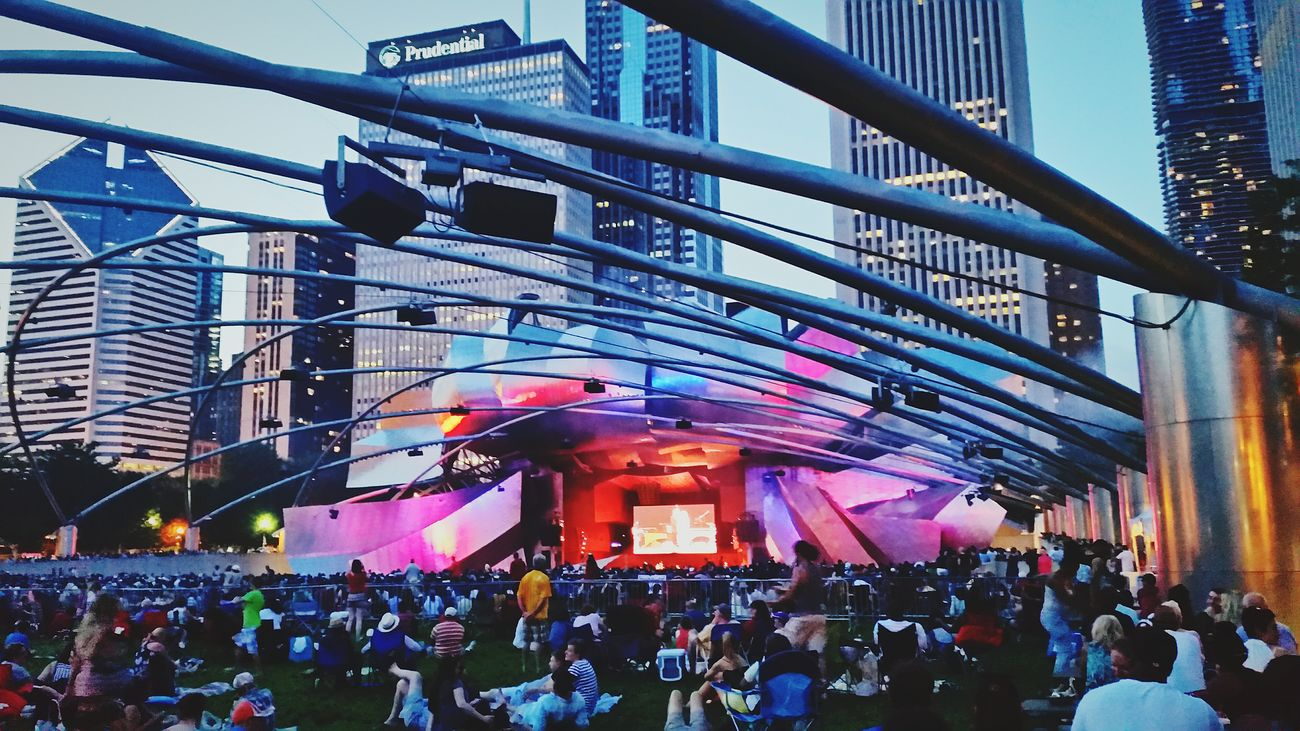 Jazz festival at Pritzkerpavillion in Chicago Nightlife Chicago Skyline Night Lights Concert Samsung Galaxy S5 PhonePhotography