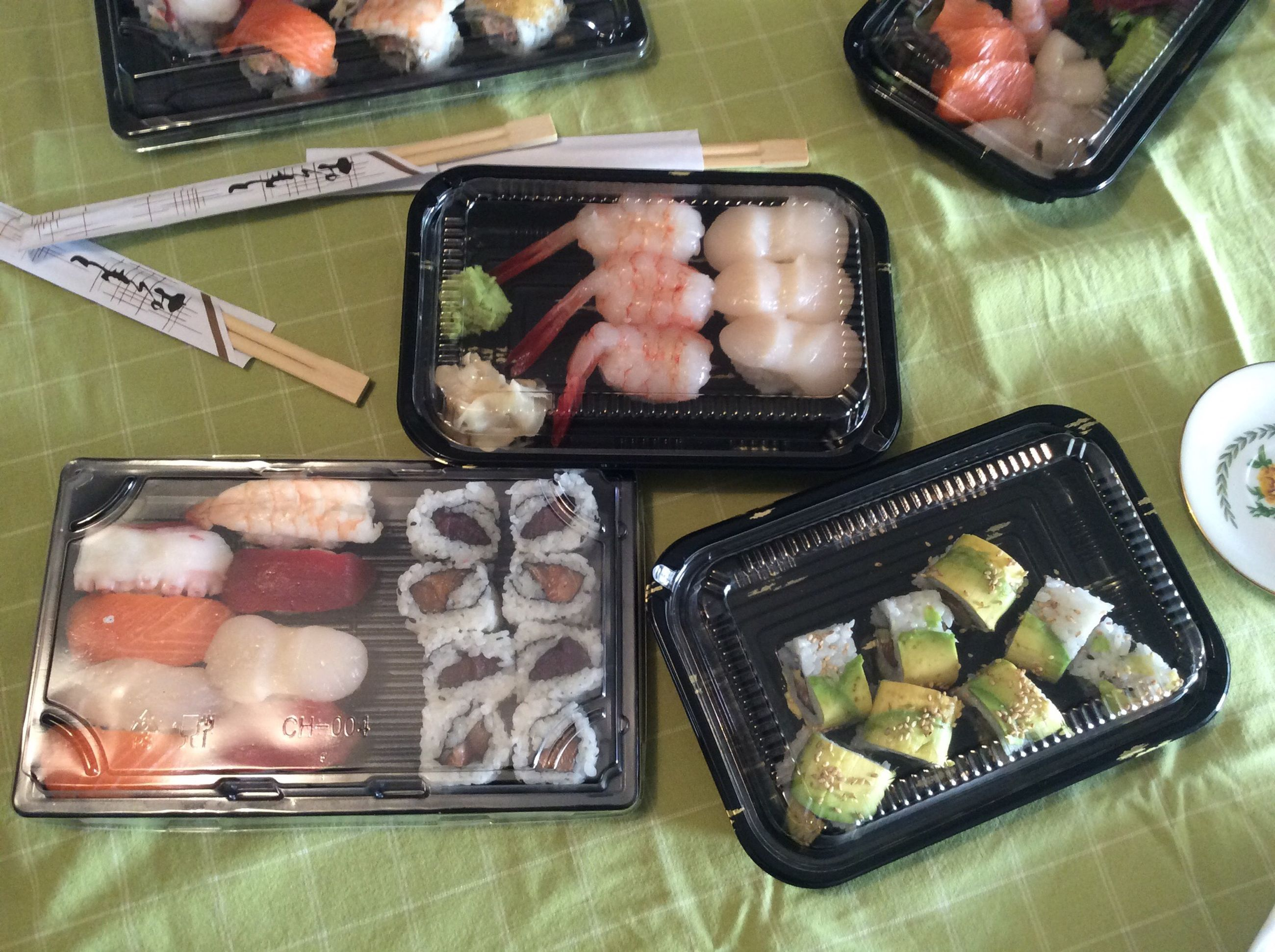 food and drink, food, indoors, freshness, still life, healthy eating, ready-to-eat, high angle view, table, plate, variation, meat, tray, meal, indulgence, slice, serving size, choice, sushi, preparing food