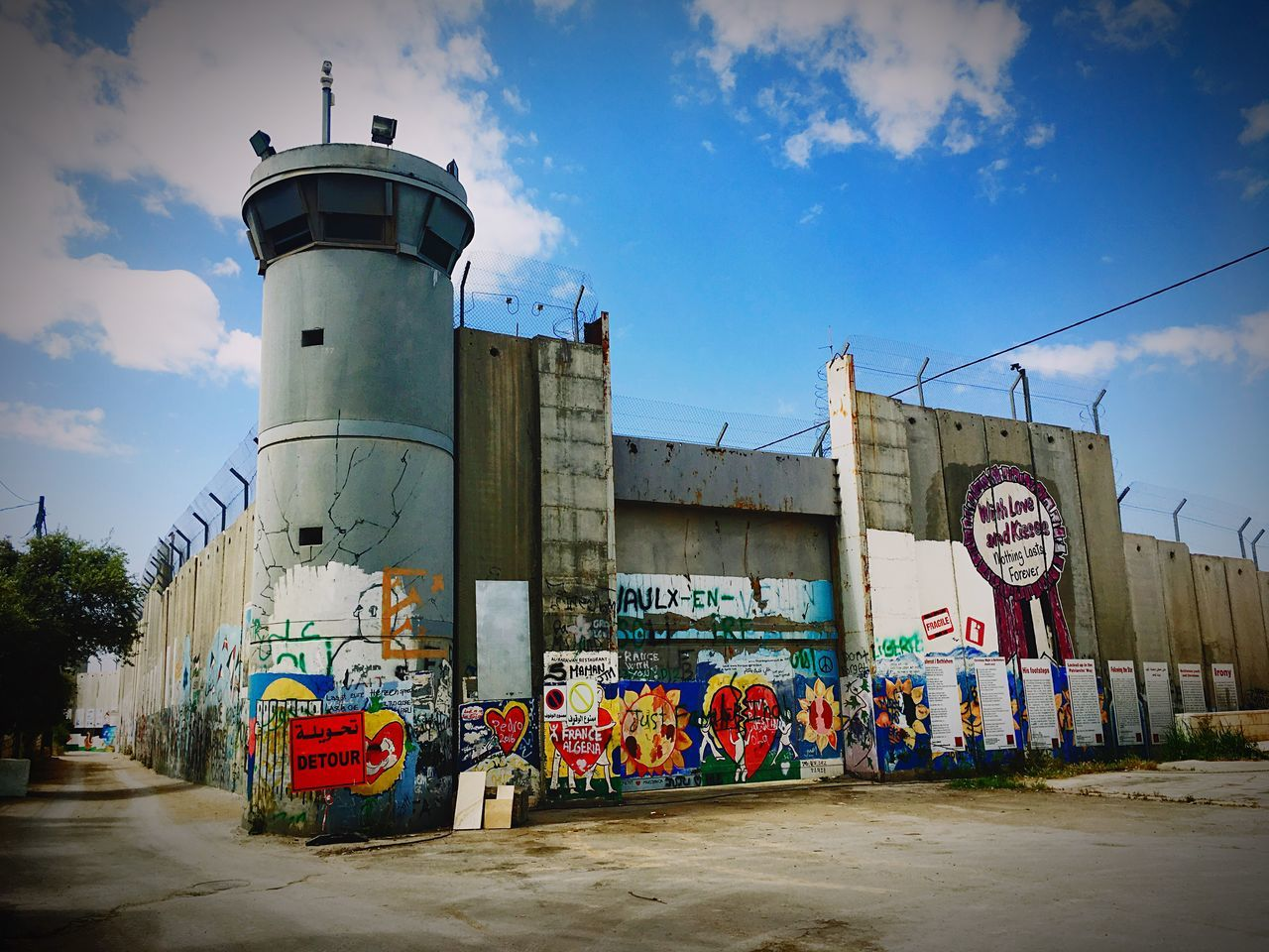 Visual Feast Wall Palestine Painting Art Hope Freedom Banksy Bethlehem Checkpoint Voice Wish Separation Separation Wall Paint Love Wishes