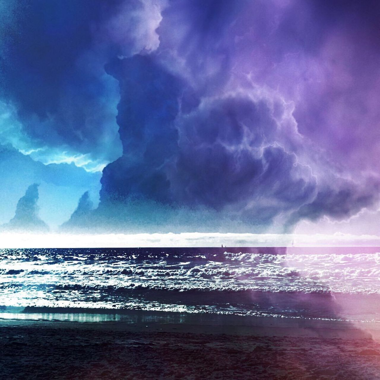 sea, sky, horizon over water, water, beauty in nature, scenics, nature, tranquil scene, tranquility, cloud - sky, no people, outdoors, day, beach, power in nature, wave