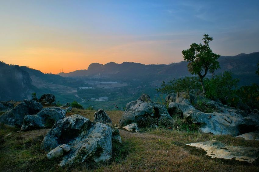 Stone garden in padalarang indonesia, this is so Landscape Nature No People Beauty In Nature Full Length Casual Clothing People Beauty In Nature Portrait Sunlight Outdoors Sunset Sky Day Scenics Mountain Fog much monkey and stone hard..