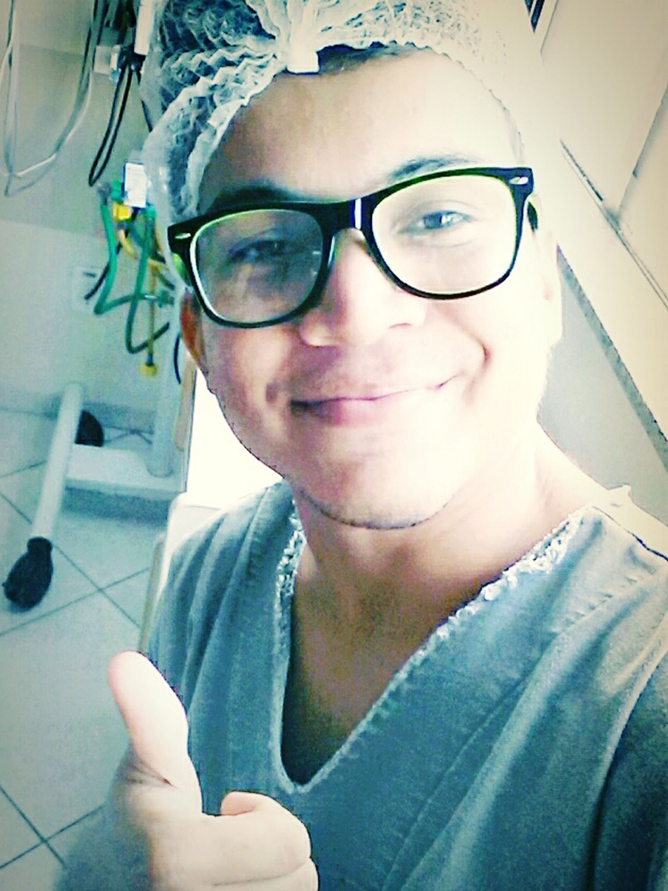 Man Enfermagem Love ♥ Uti Selfie ✌ Sorriso Hot Model