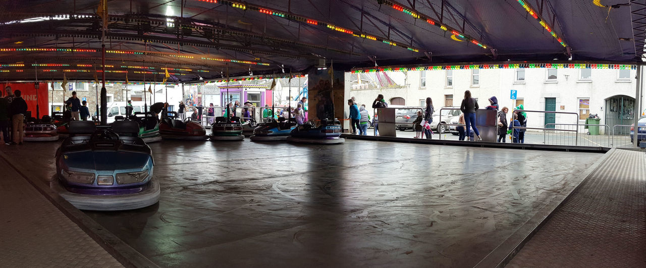 Bumper Cars Dodgems Electric Car Funfair Ride People