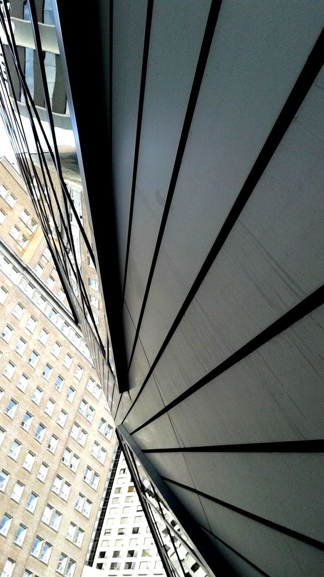 City angles. Urban Urban Photography Urban Reflections Lines Architecture Built Structure Modern Repetition Geometric Shape Architectural Feature Architectural Design No People Angle City Modern Urban Exploration Exceptional Photographs EyeEm Best Shots From My Point Of View City Life Toronto Symetry... Nobody Outdoors Building Exterior