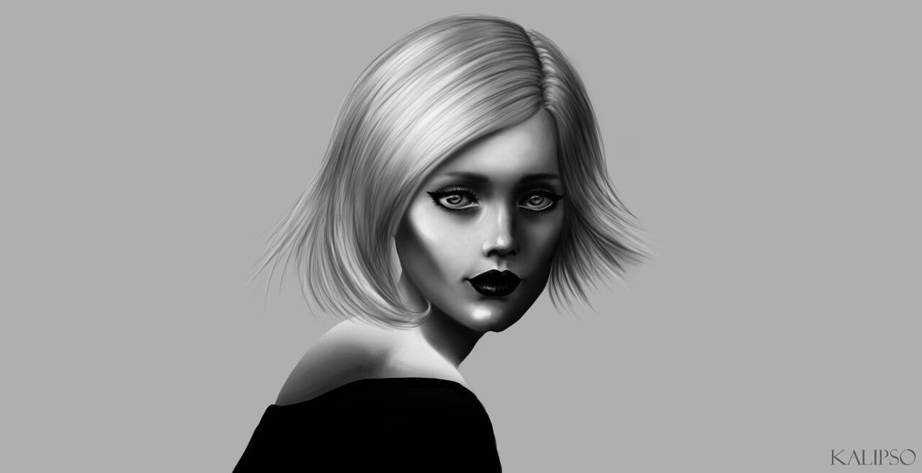 Art Photoshop Sims Digital Art Digital Portrait