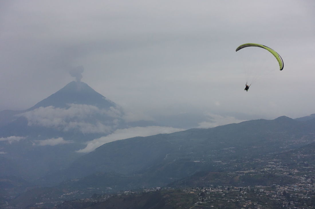 Paragliding in Ecuador near Tungurawa volcano. Clouds Clouds And Sky Cloudscape Flight Fly Flying Freedom Mountain Paraglide Paragliding Tungurahua Tungurahua-Ecuador Tungurahua Volcano Volcano Volcano Eruption Raw Mountains And Sky