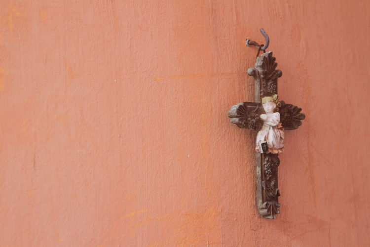 Believing Built Structure Christianity Cross Day Holy Protection No People Outdoors Sculpture Statue Wall