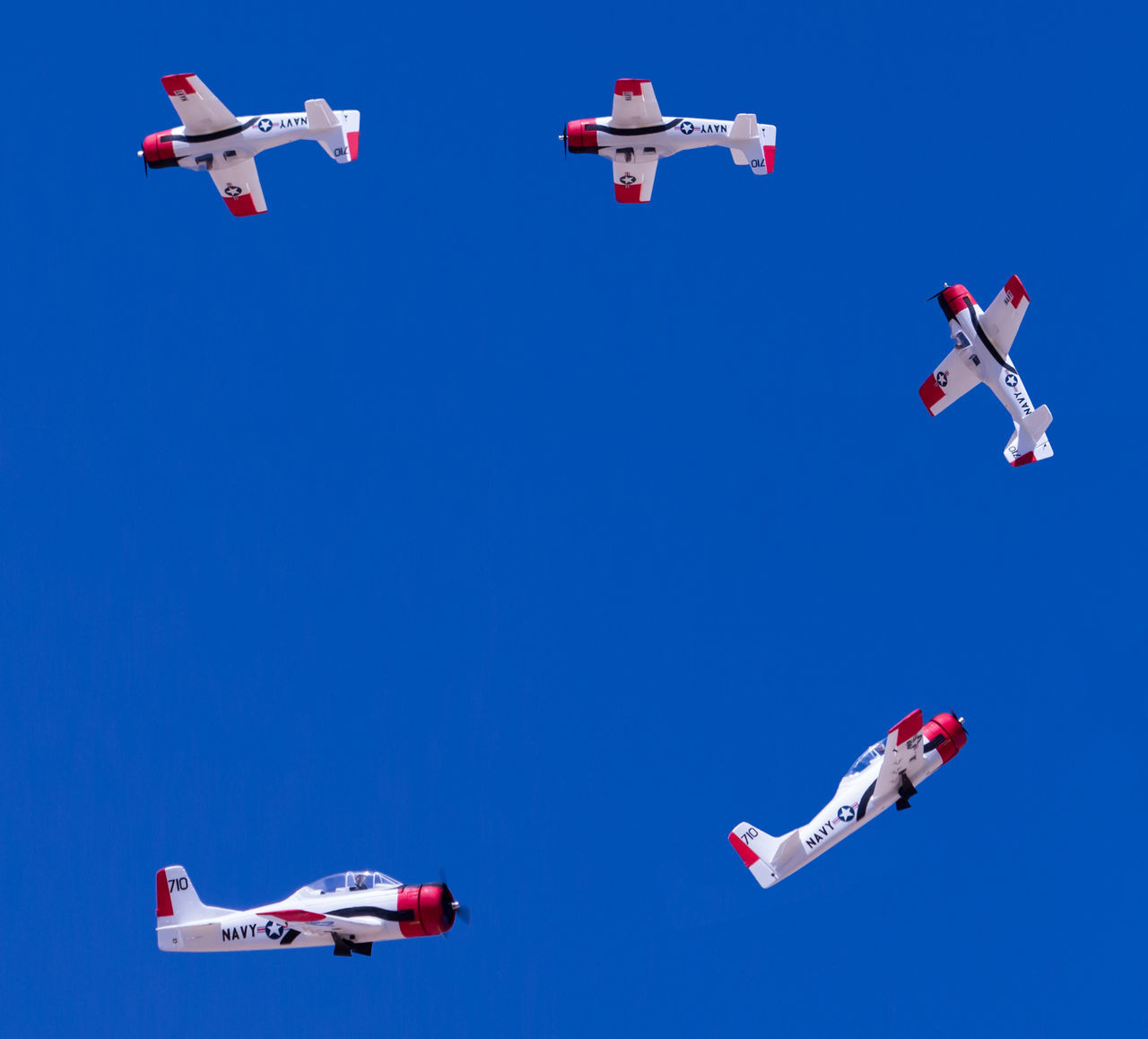 Aerobatics Airplane Airshow Blue Clear Sky Copy Space Day Flying Immelman Loop Model Airplane No People Outdoors Skill  Sky Stunt