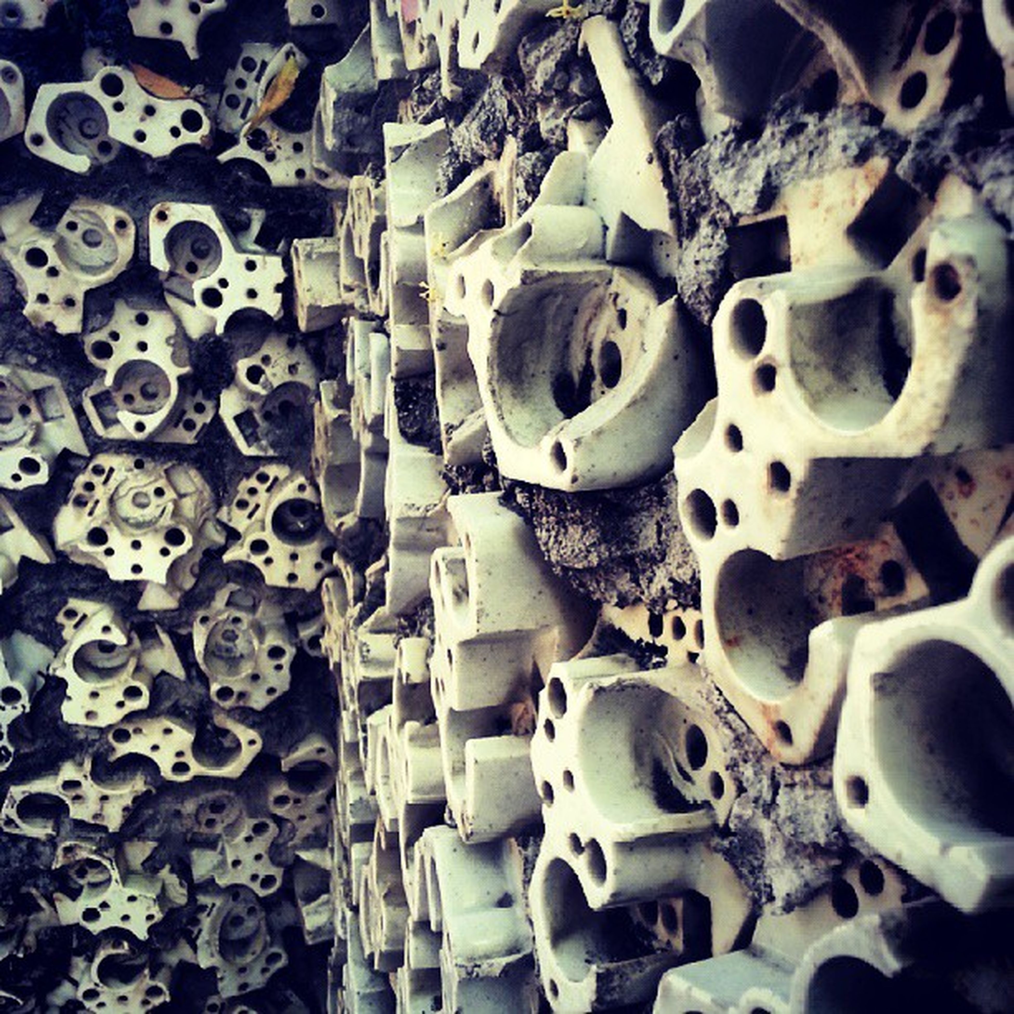 metal, large group of objects, abundance, full frame, obsolete, abandoned, close-up, damaged, backgrounds, old, metallic, indoors, run-down, deterioration, no people, stack, still life, day, high angle view, machine part