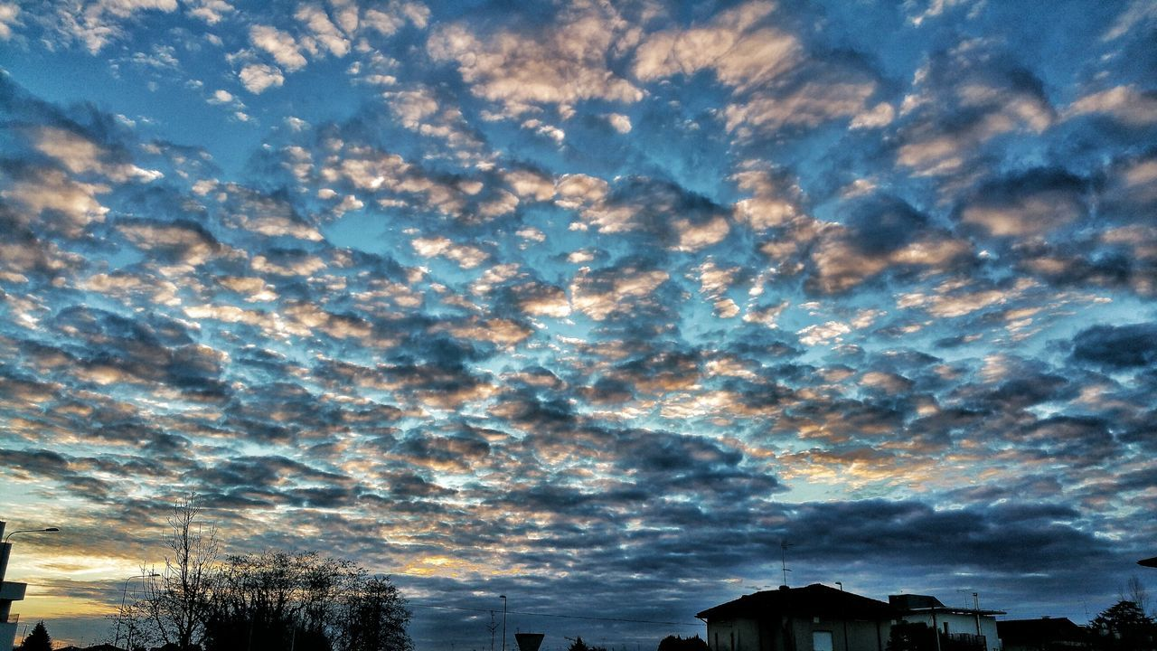 sky, no people, nature, cloud - sky, beauty in nature, scenics, outdoors, sunset, tranquility, built structure, low angle view, architecture, building exterior, tree, day