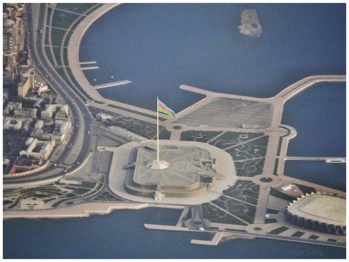 Baku Azerbaijan AirialFlying Birdview