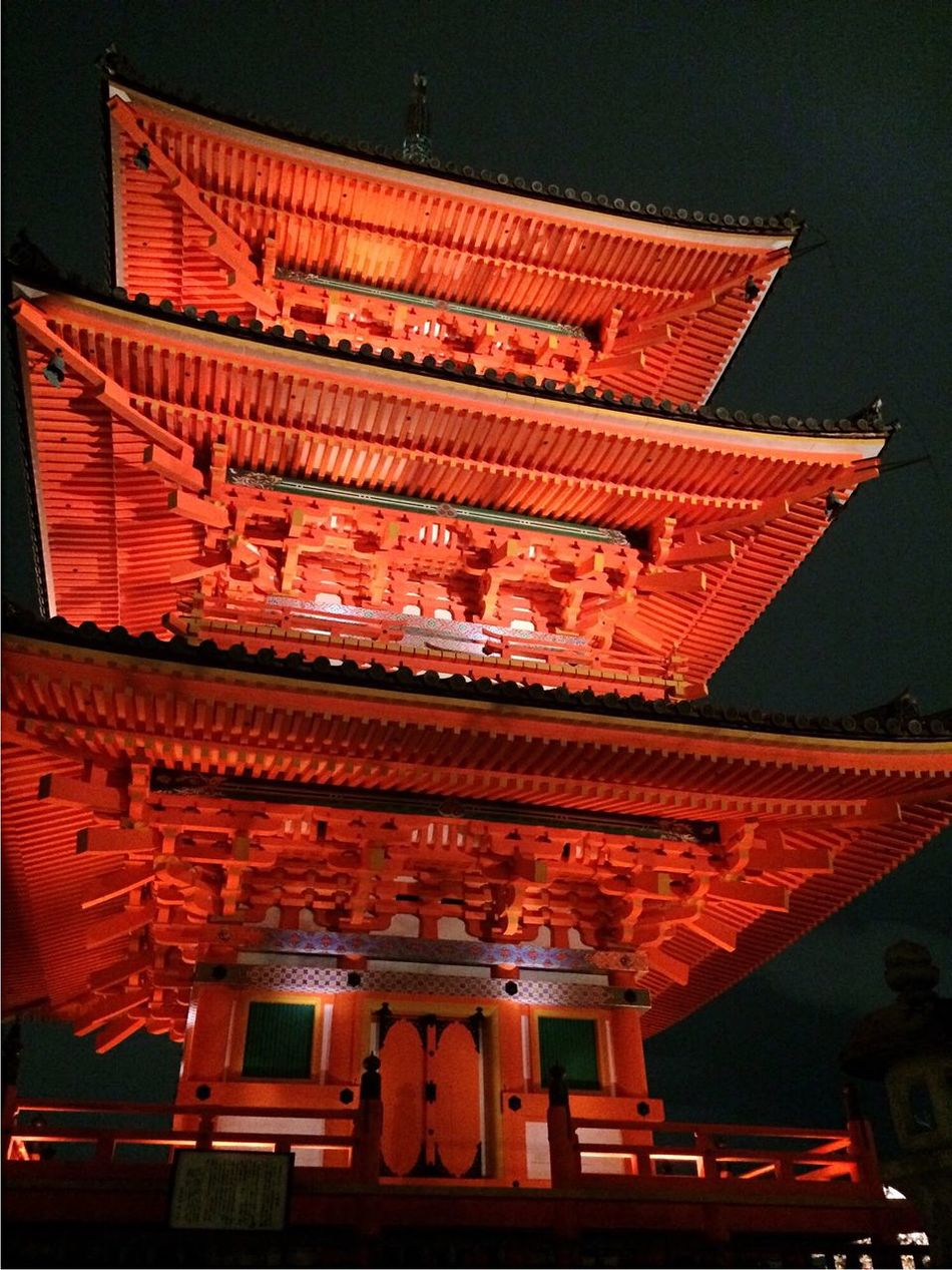 Red Temple in Japan Religion Prayer Red Temple Night Redlight Japan