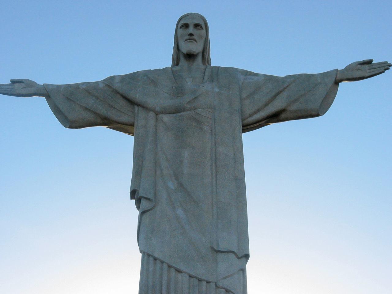 Brasil Brazil Christ The Redeemer Christianity Corcovado Cristo Redentor Famous Famous Place Icon Jesus Landmark Monument Mountain Religion Rio Rio De Janeiro Sculpture Sky South America Statue Status Tourism Travel