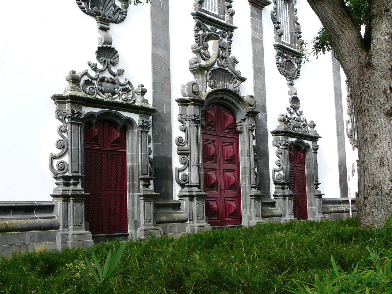 3 Doors ~ 3 Doors! How Many Secrets? Architecture Azores Building Exterior Built Structure Day Door Frame Doors Entrance Grass Impenetrable Maroon No People Ornate Ornate Stonework Outdoors Red Sao Miguel-Azores Stonework