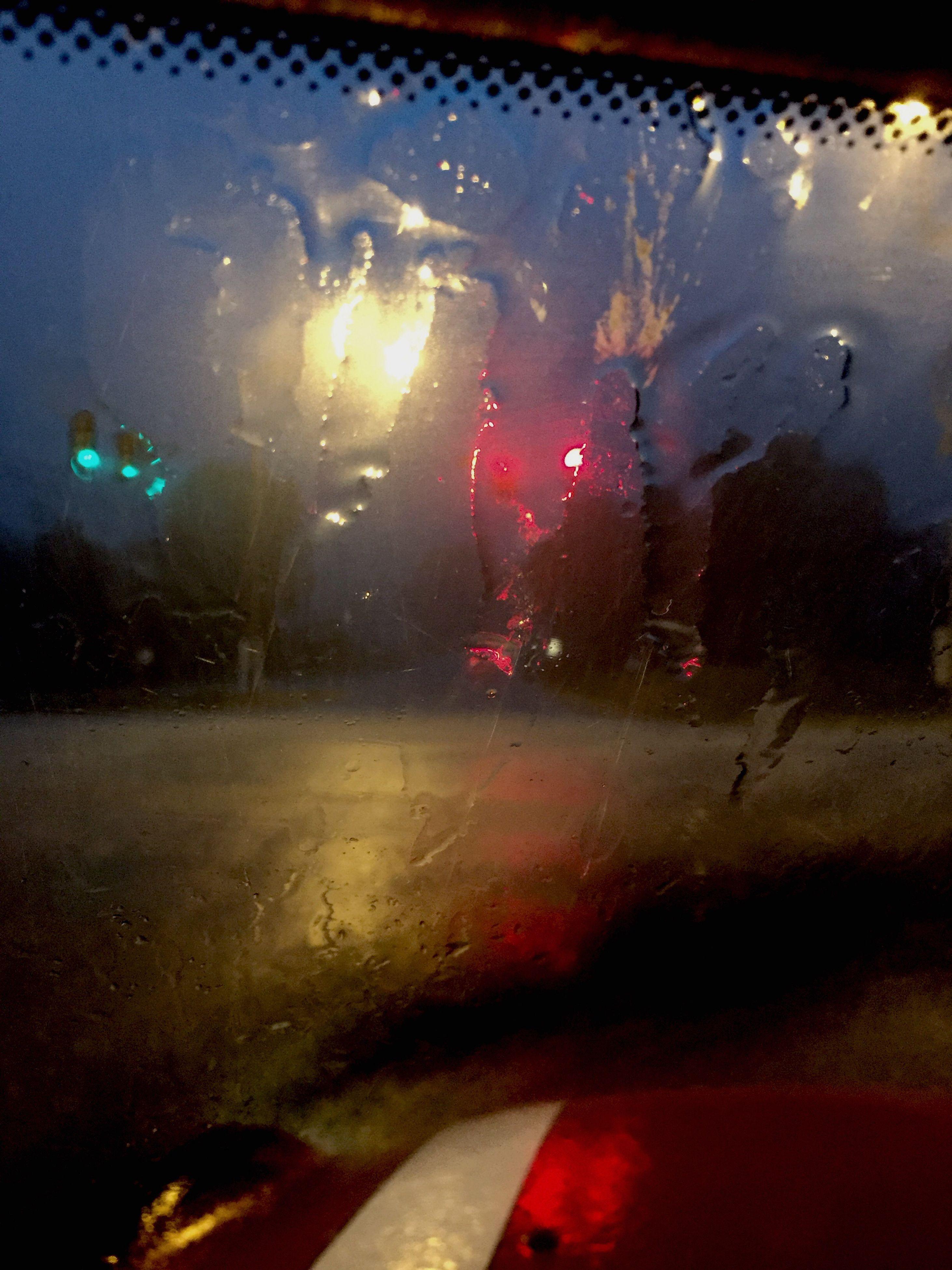 glass - material, wet, window, transportation, transparent, drop, vehicle interior, water, rain, land vehicle, reflection, car, no people, night, rainy season, car interior, close-up, illuminated, outdoors, sky, raindrop, frosted glass