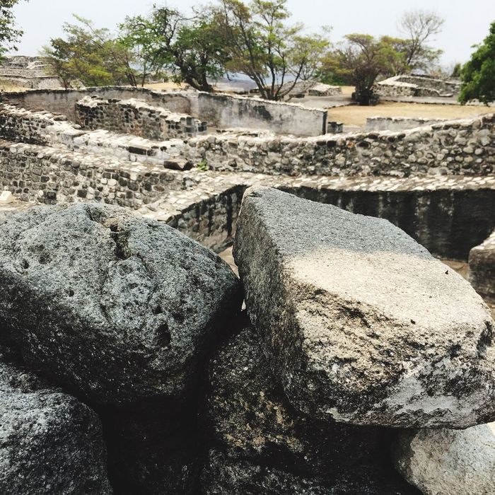 Xochicalco Morelos Rock - Object Stone - Object Day Outdoors No People Built Structure Tree Nature Architecture Close-up Sky