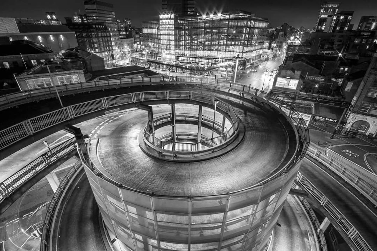 Shudehill, Manchester City Centre. Manchester Cityscapes Cityscape Nightphotography Night Photography Night View Monochrome Mono Bw Blackandwhite Black And White Black & White City Lights City View  Rooftop The Architect - 2016 EyeEm Awards