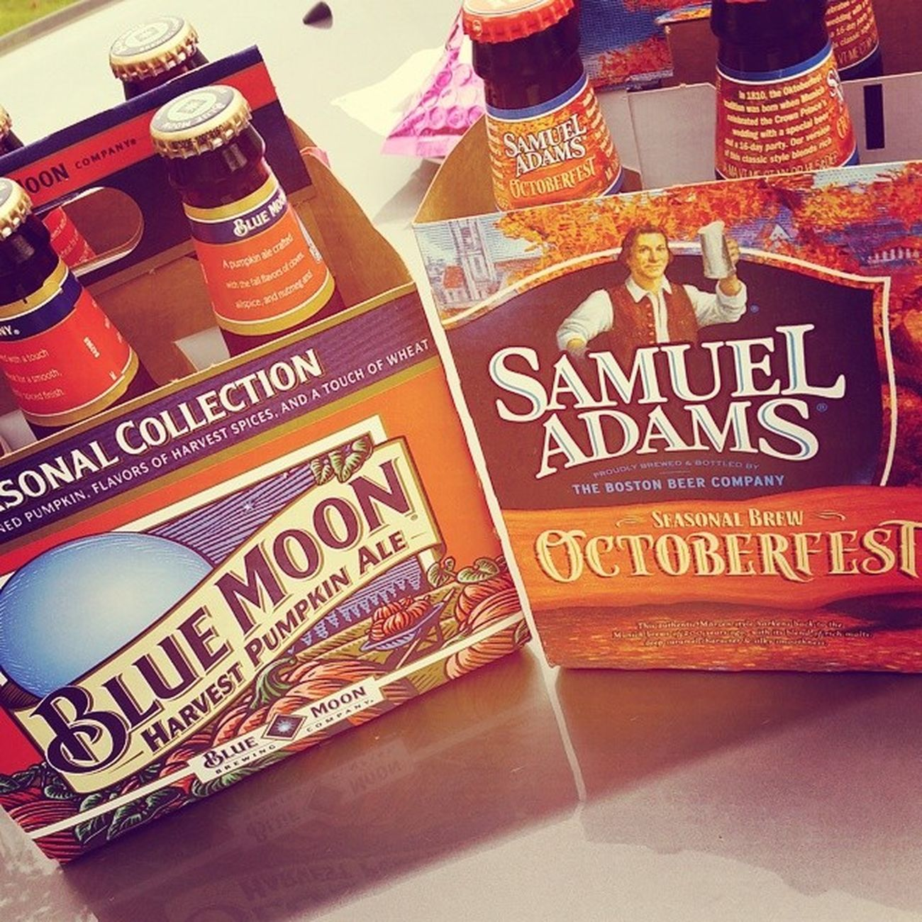 Can't wait to try these! Bluemoon Samueladams Octoberfest
