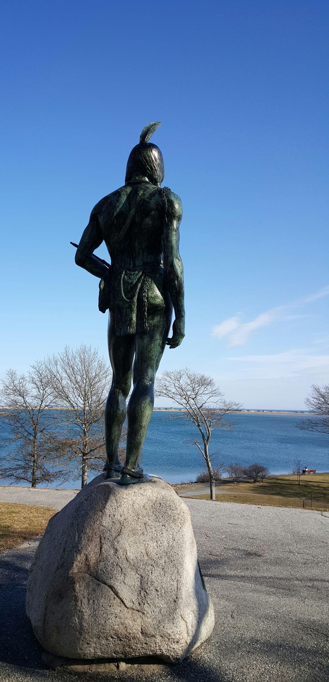 Massasoit Statue Plymouth Massachusetts Blue Blue Sky Blue Sea Monument Historical Place Showcase: February EyeEm Best Shots