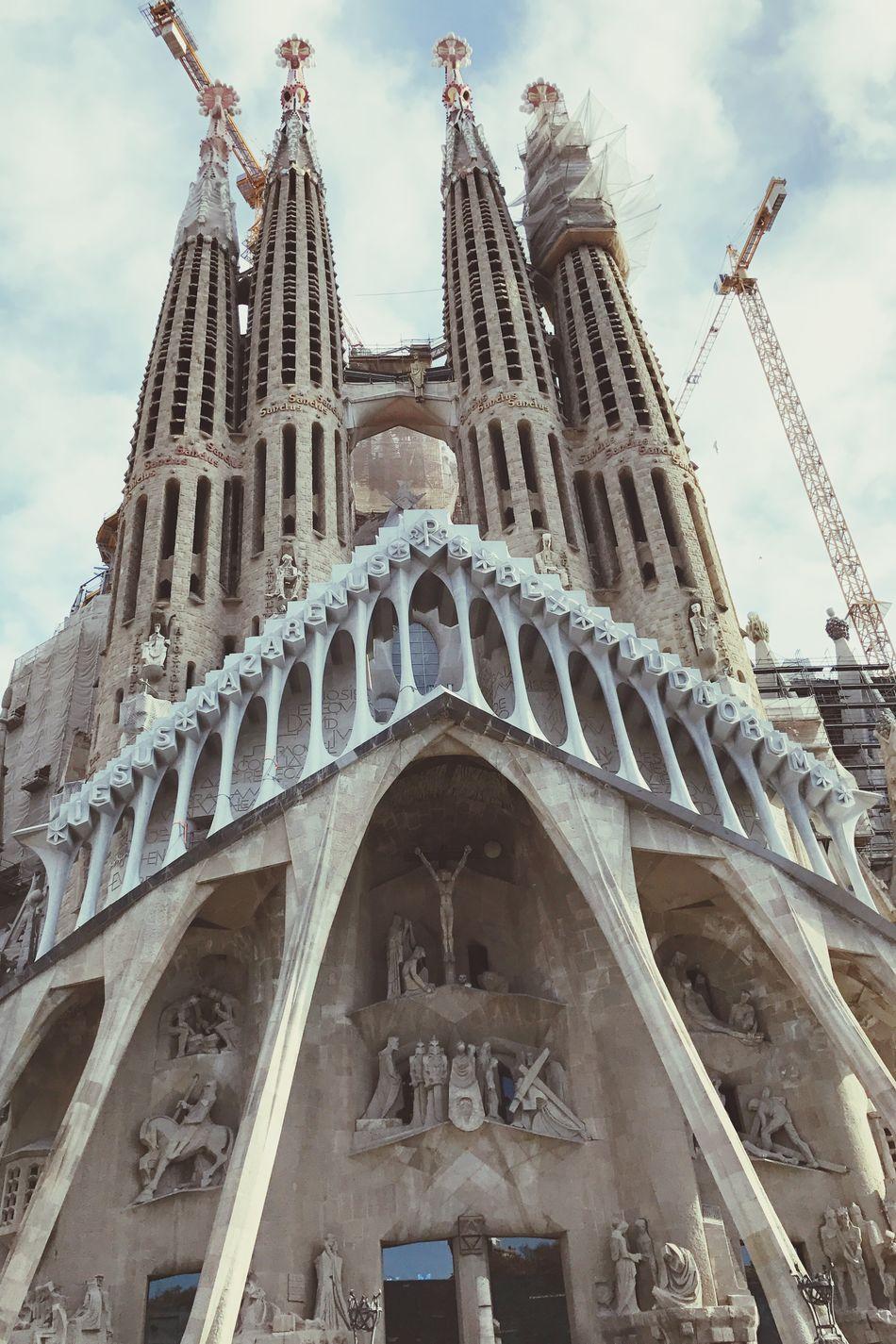 Sagradafamilia Gaudi Gaudì Architecture Work Built Structure Building Exterior City