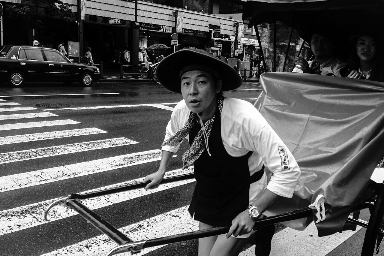 Transportation Lifestyles Tourism Mode Of Transport Street Zebra Crossing City Looking At Camera City Life Person Outdoors Exercise Tokyo Japan Travel Blackandwhite Road Moment Monochrome Photography Monochrome