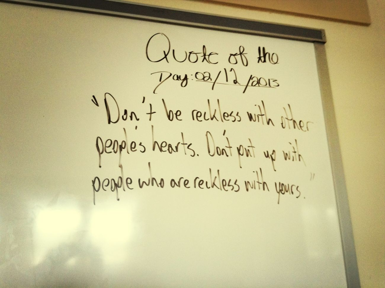 Quote Of The Day (: