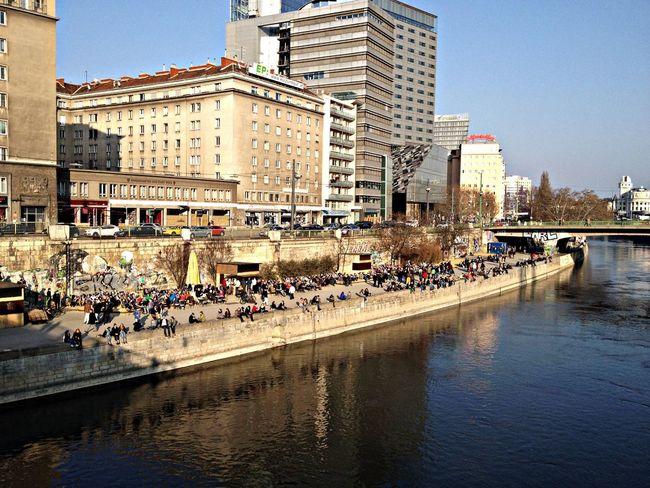 People enjoying the Sun Enjoying Life Sunny Day Chillin Vienna