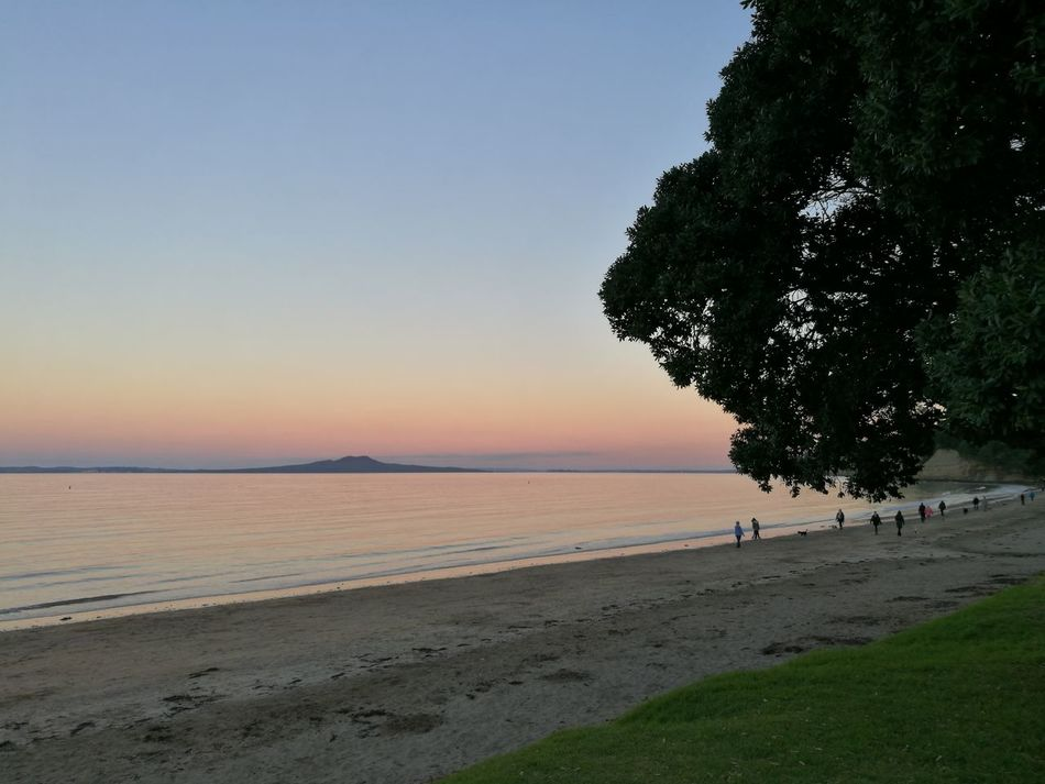 Sunset Rangitoto Beach New Zealand