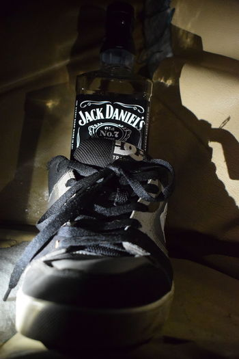 Alcohol Alcoholic Drink Close-up Darkness And Light Day EyeEmNewHere Indoors  Jack Daniels Night Night Lights Night Photography Nightlife Nightphotography Nikon Nikon D3300 Nikon_photography Nikonphotographer Nikonphotography No People Shoe Shoes Shoes Of The Day Shoes ♥ Shoeselfie Whiskey
