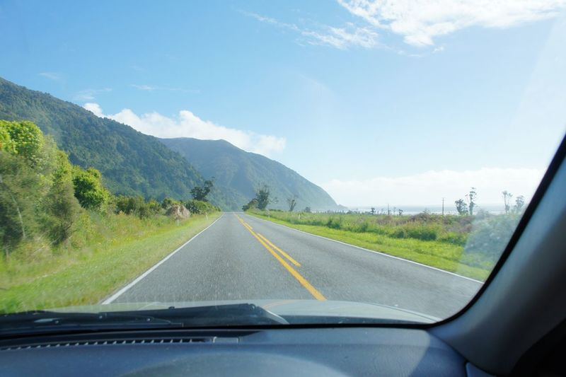 New Zealand Beauty Drivers View Roadtrip Nature Travel Photography Beauty In Nature Mountain Road Clouds And Sky Ocean View Beach Summer No People New Zealand
