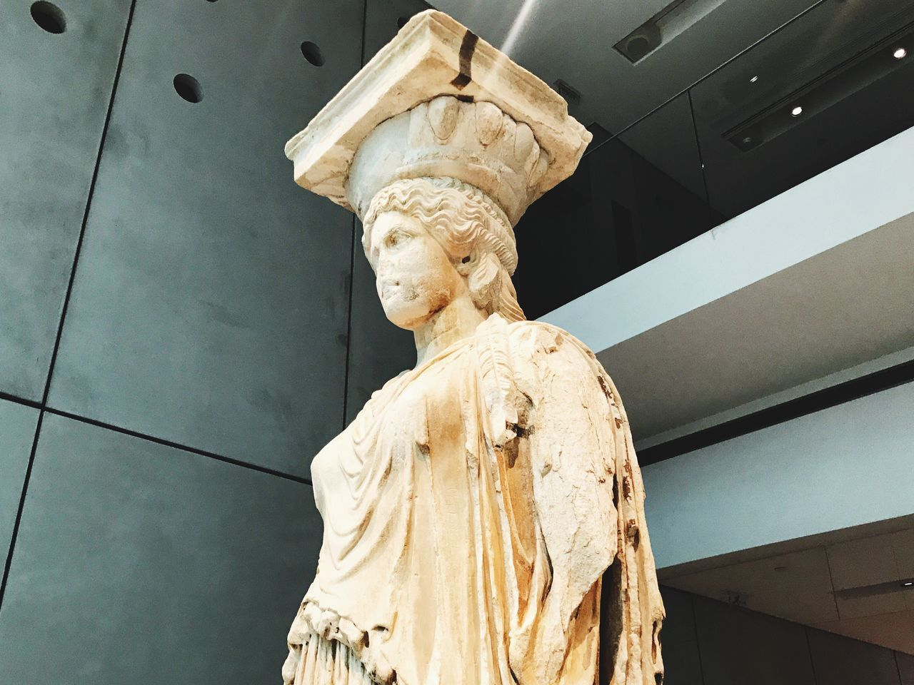 Caryatid Column, Acropolis Museum Caryatid Column Acropolis Architecture Sculpted Female Architectural Sopport Pillar Athens Greece Statue