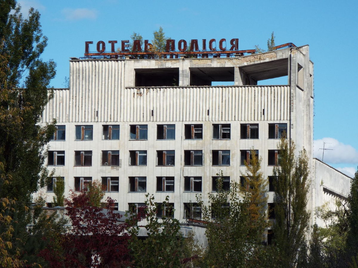 A hotel in the Chernobyl exclusion zone. Building Chernobyl Chernobyl Zone Crumbling Building Exclusion Hotel Nuclear Distaster Ruins Ukraine