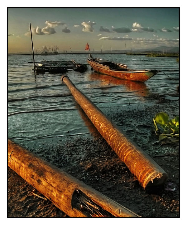 Arrangement Banca Boats⛵️ Day Directly Above Escapism Full Frame Joel Yonzon Lakeshore Lakeside Large Group Of Objects No People Outdoor Photography Outdoors Pipe - Tube Side By Side Stack Summer Woods