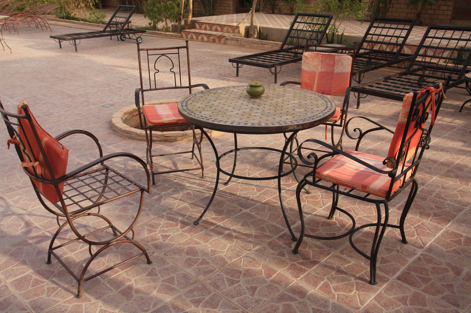 Beautiful stock photos of table, Absence, Chair, Cobblestone, Day