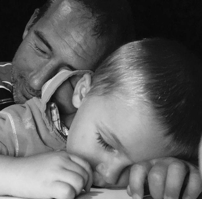 Dad son sleep Sleep