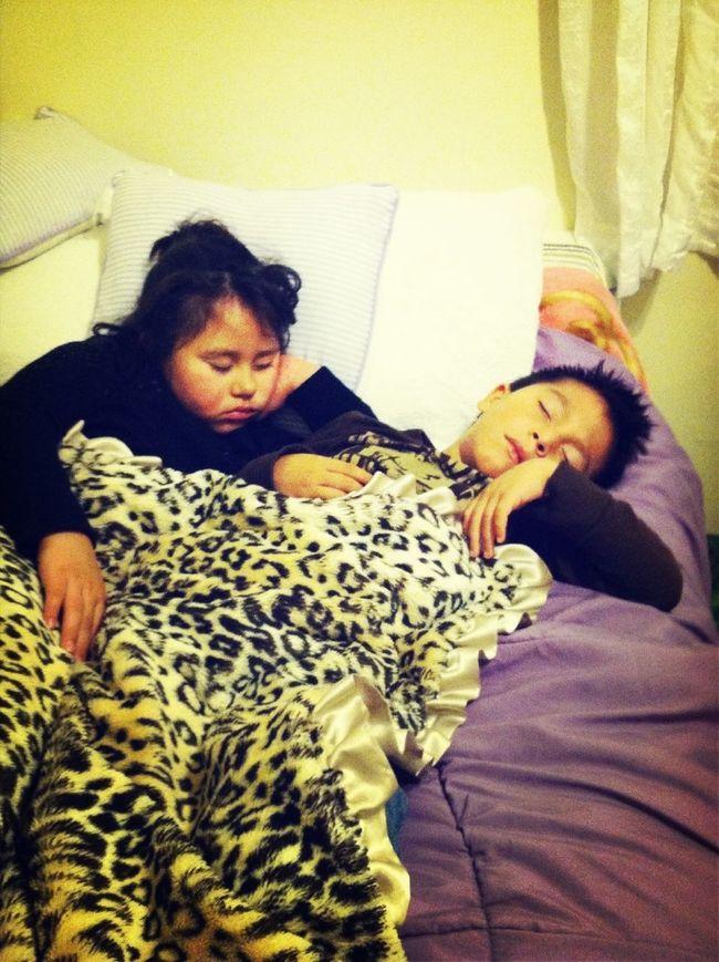 My Babies fell asleep :)
