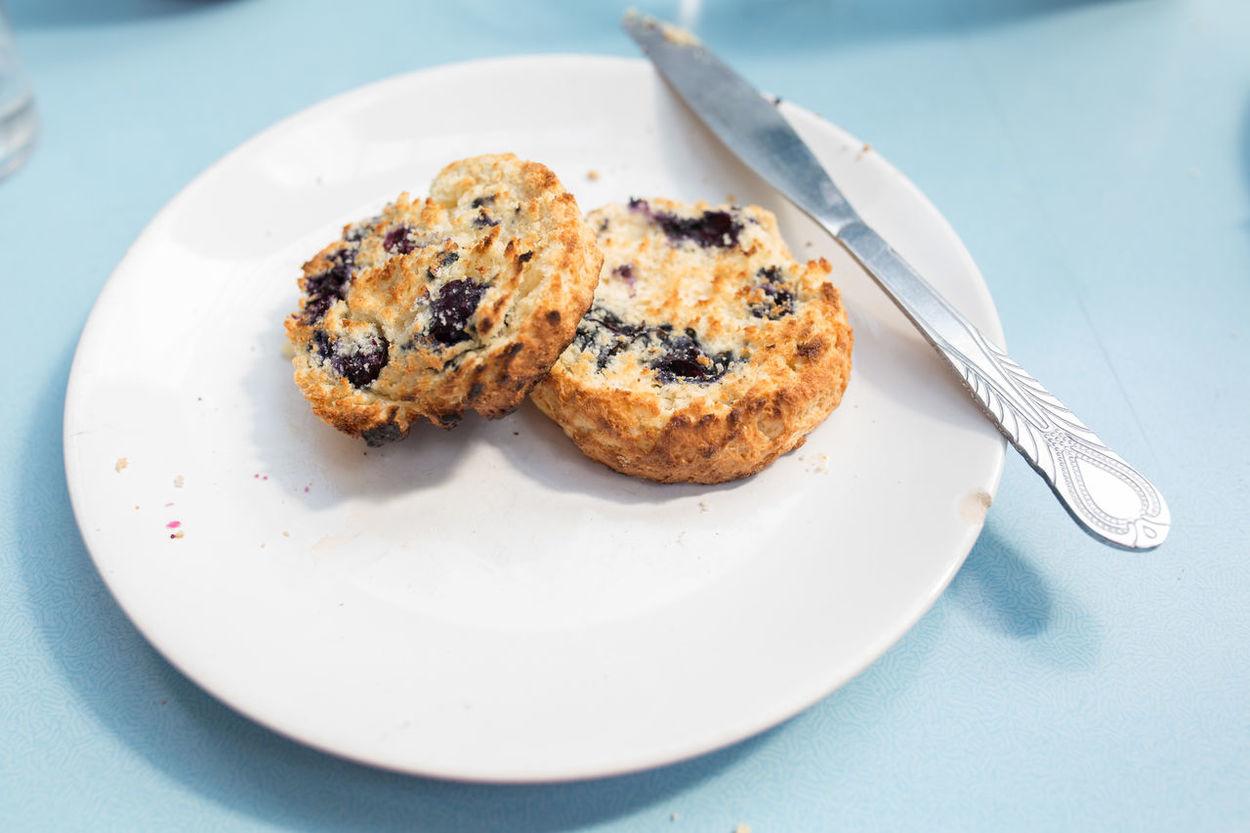 Breakfast Cream Tea Food No People Scone Scones Served Tea Time Temptation Toasted