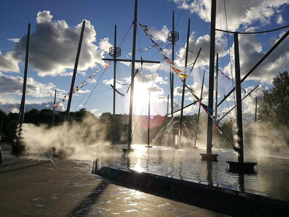 City View  Fountain Fregate Ventspils City