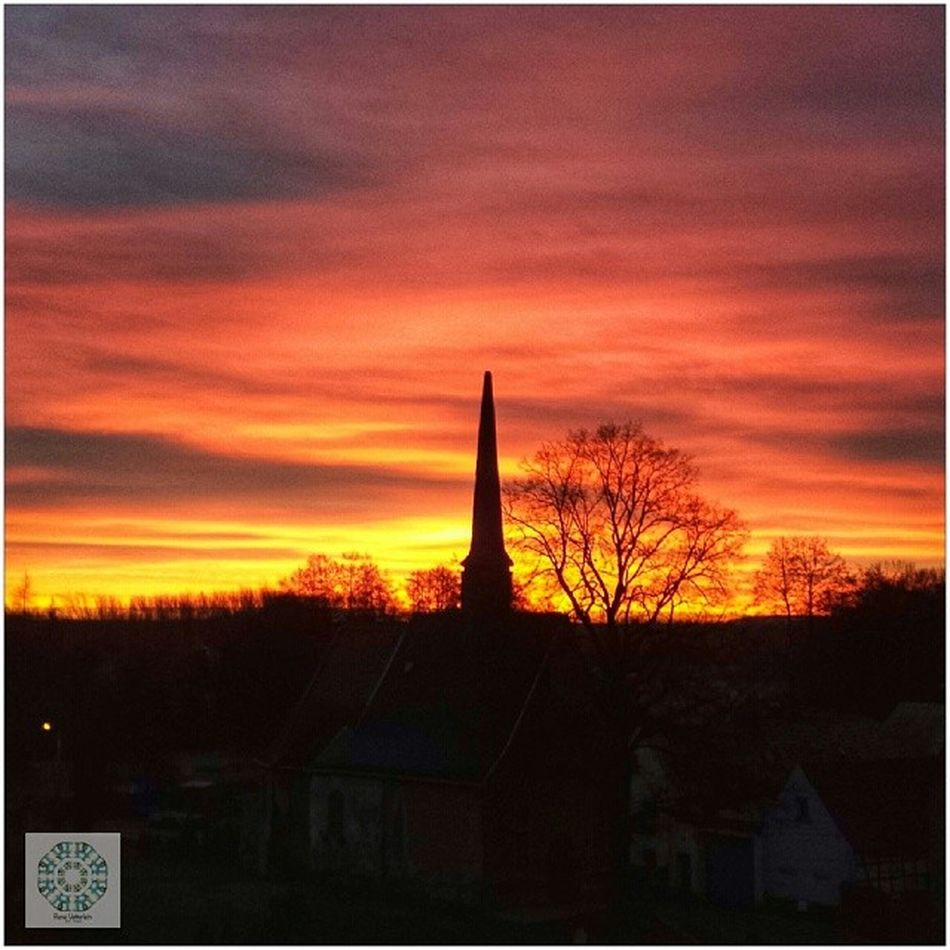 I wish my friends a wonderful day. Soellmnitz S öllmnitz Gera Thuringia hometown germany morning sunrise beautiful color