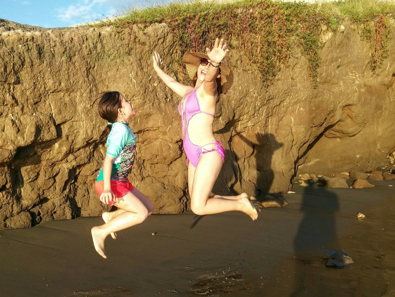 Live For The Story Sand Fun Summer Beach Togetherness Vacations Motion Outdoors Leisure Activity Two People Water Girls People Child Day Friendship Enjoyment Children Only Boys Females ecuador Ecuador Nature Photography Beauty In Nature Vacations