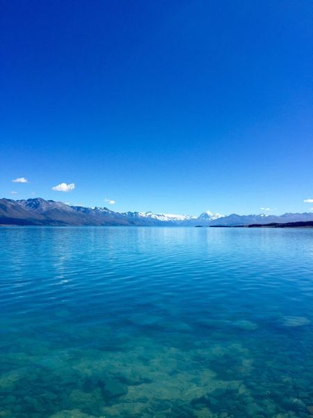 I find peace and tranquility here Blue Lake Pukaki Landscape Tranquil Scene Nature Beauty In Nature Scenics Water Idyllic Sky No People Calmness South Island New Zealand EyeEmNewHere New Zealand Beauty New Zealand Scenery New Zealand Travel Lake Pukaki Mount Cook