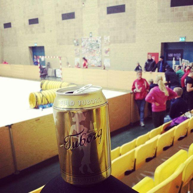 Dricker öl i Vallensbaek och kollar på Agility SK  ål ta me fan från Danmark