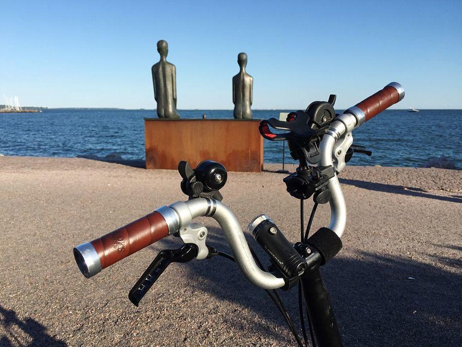 Eiranranta Brompton Bike Sculpture Seaside