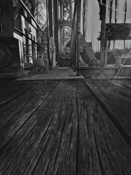 My Bridge in Wood - Material and Metal Structure Boat Barge Lift Visit With Me Lifestyles Eye4photography  Taking Photos Urban Exploration Exceptional Photographs EyeEm Best Shots - Black + White Tell A Story Differently Transportation Monochrone Capture The Moment. Black And White The Way Forward Check This Out Close Up Welcome To Black