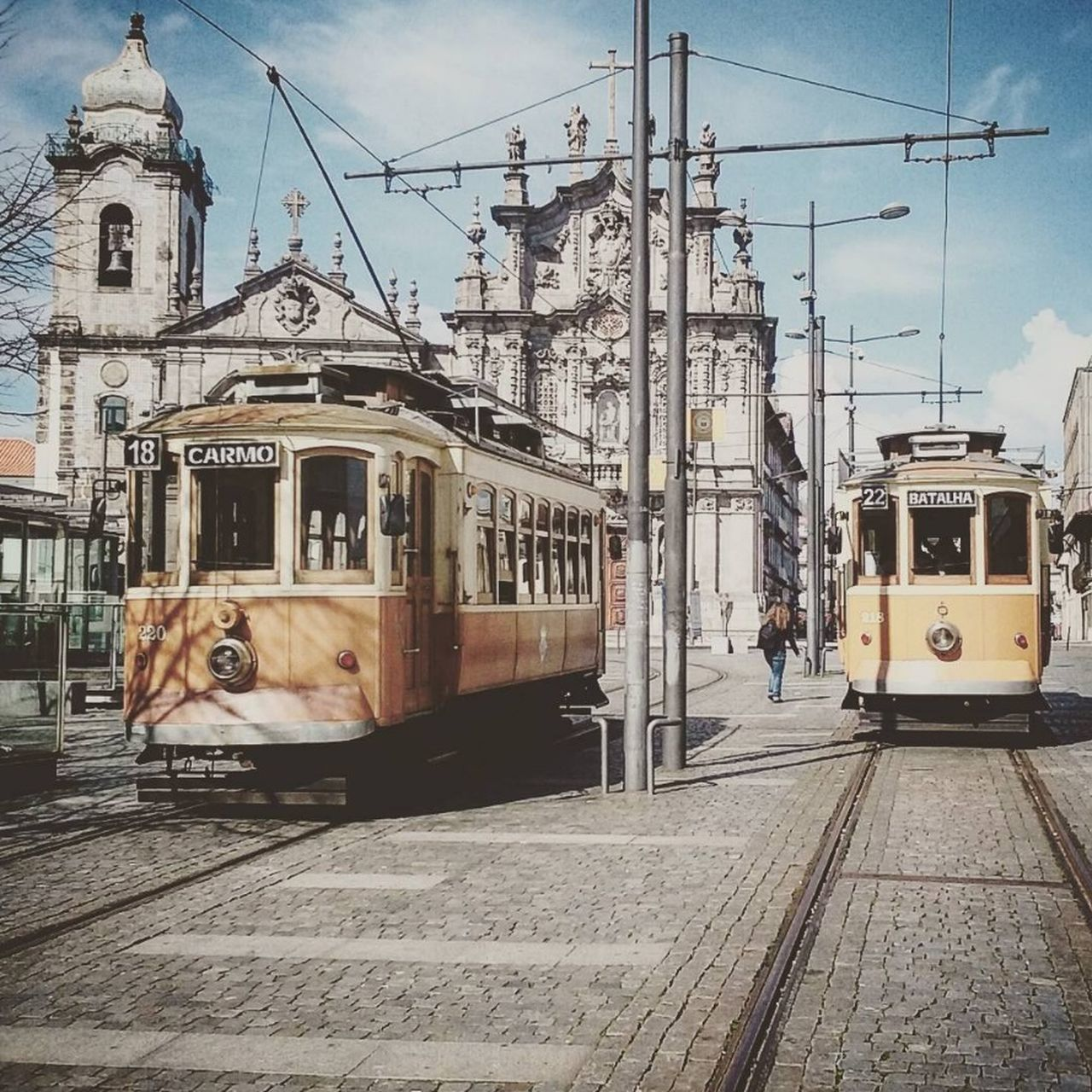 Antique Architecture Building Exterior Built Structure Cable Car City City Life Day EyeEmNewHere Land Vehicle Men Metro Mode Of Transport Old Old Buildings Old Town Old Train Outdoors Public Transportation Streetphotography Train Tram Tramway Transportation Travel