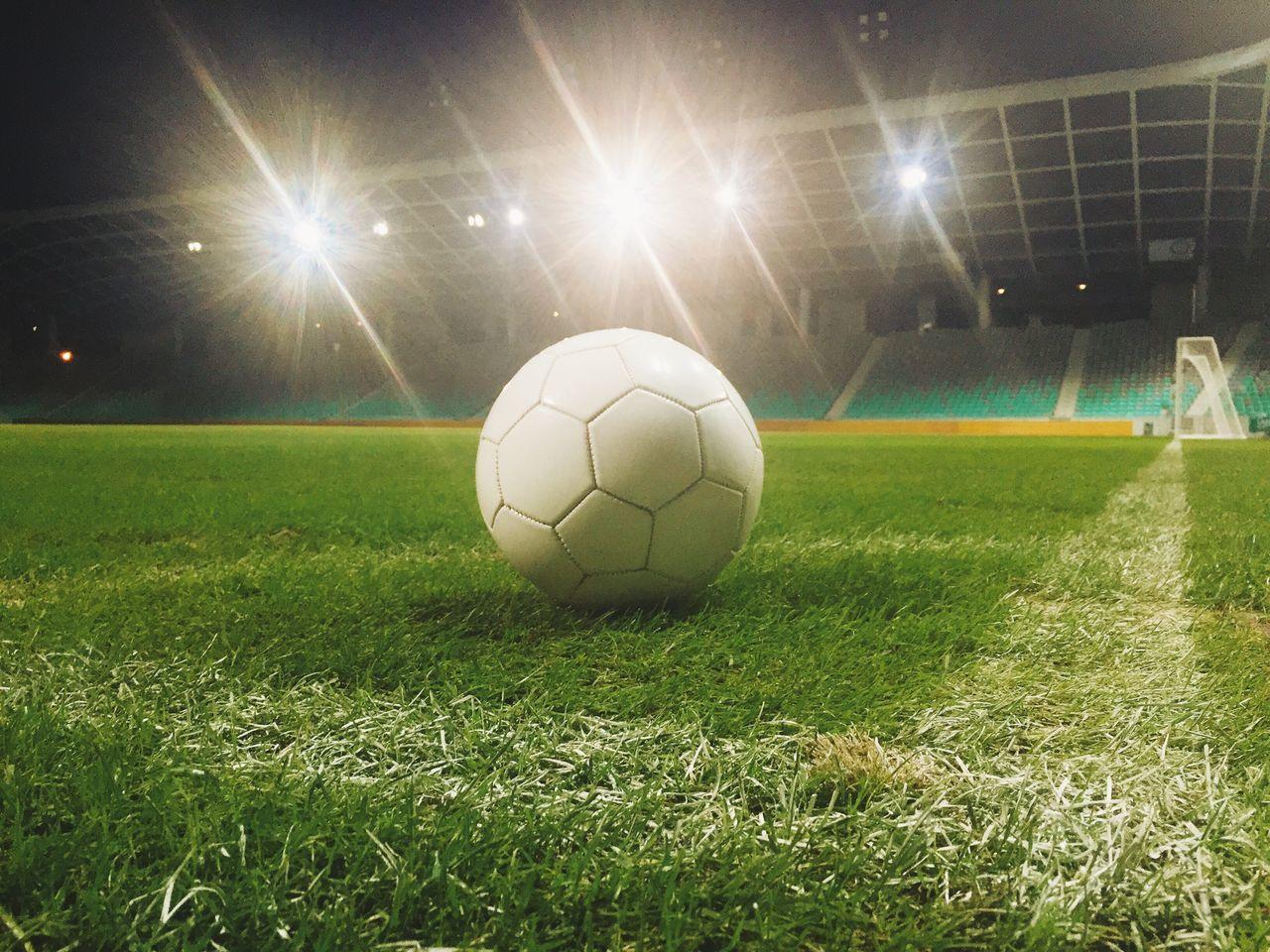 Beautiful stock photos of soccer balls, Ball, Electric Light, Electricity, Field